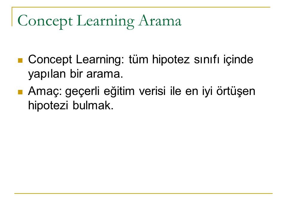 Concept Learning Arama