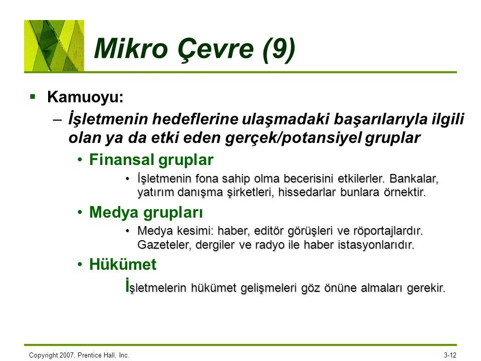 Mikro Çevre (9) Kamuoyu: