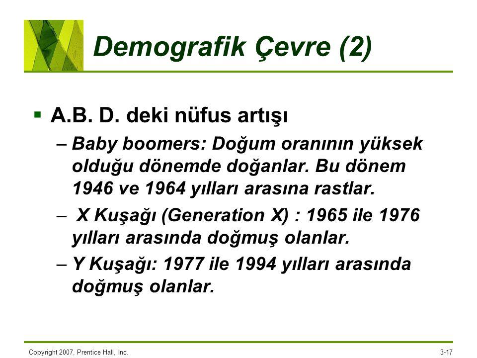 Demografik Çevre (2) A.B. D. deki nüfus artışı