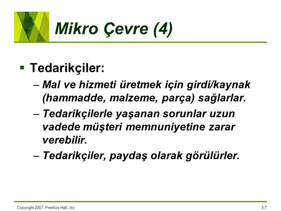 Mikro Çevre (4) Tedarikçiler: