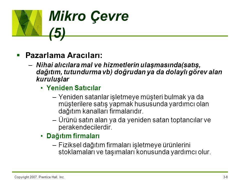 Mikro Çevre (5) Pazarlama Aracıları: