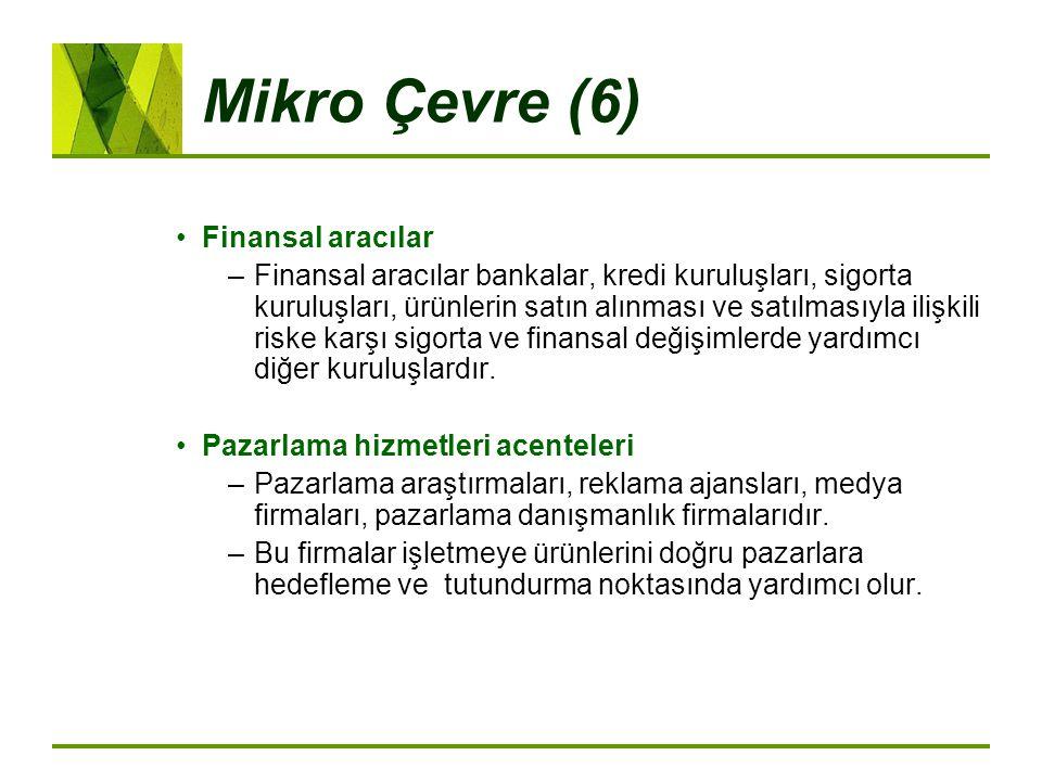 Mikro Çevre (6) Finansal aracılar