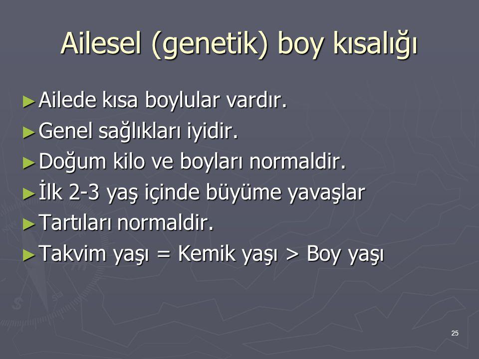 Ailesel (genetik) boy kısalığı