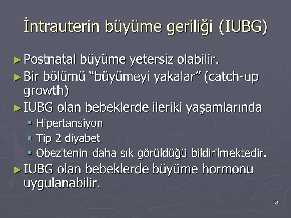 İntrauterin büyüme geriliği (IUBG)