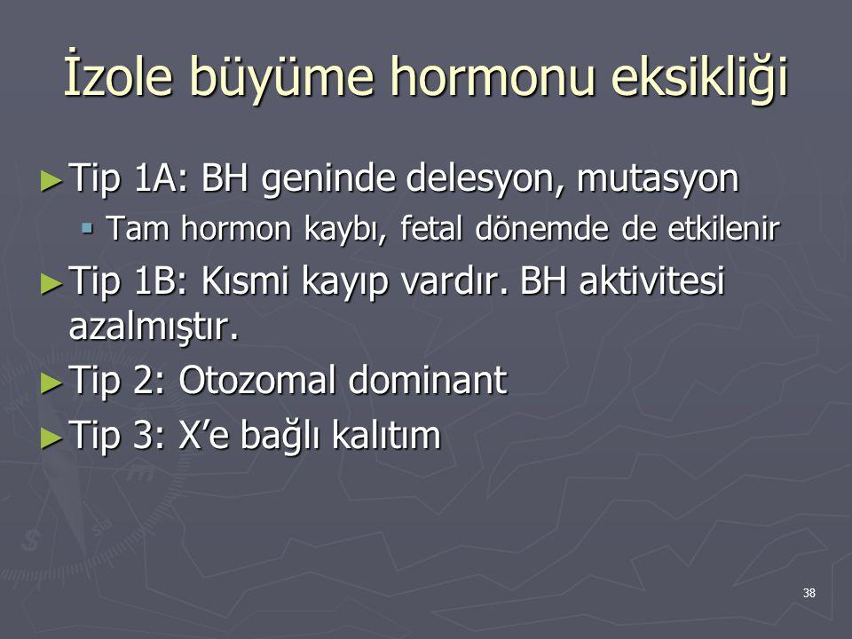 İzole büyüme hormonu eksikliği