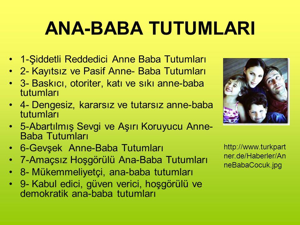 ANA-BABA TUTUMLARI 1-Şiddetli Reddedici Anne Baba Tutumları