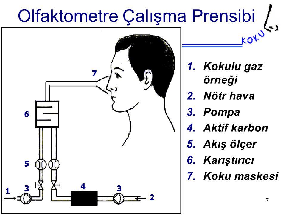 Olfaktometre Çalışma Prensibi
