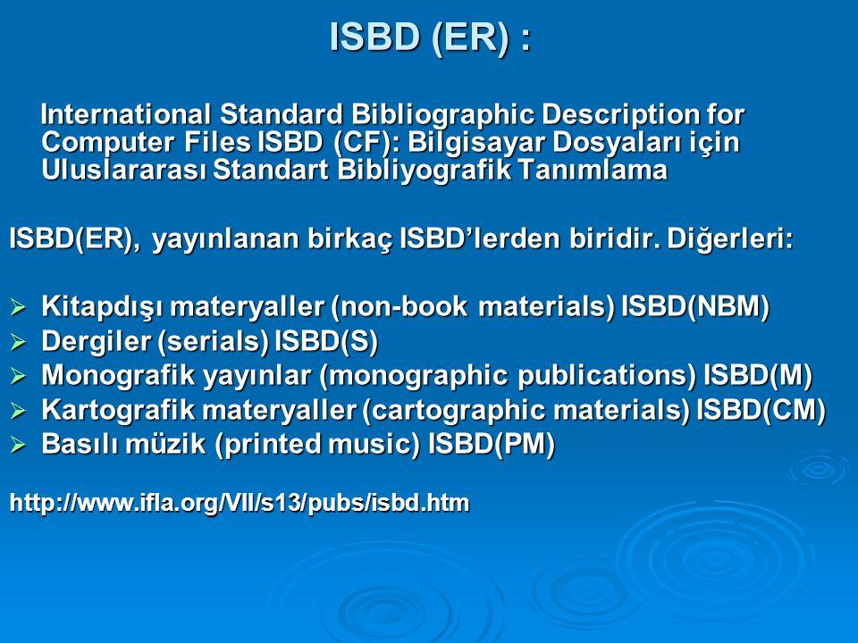 ISBD (ER) :