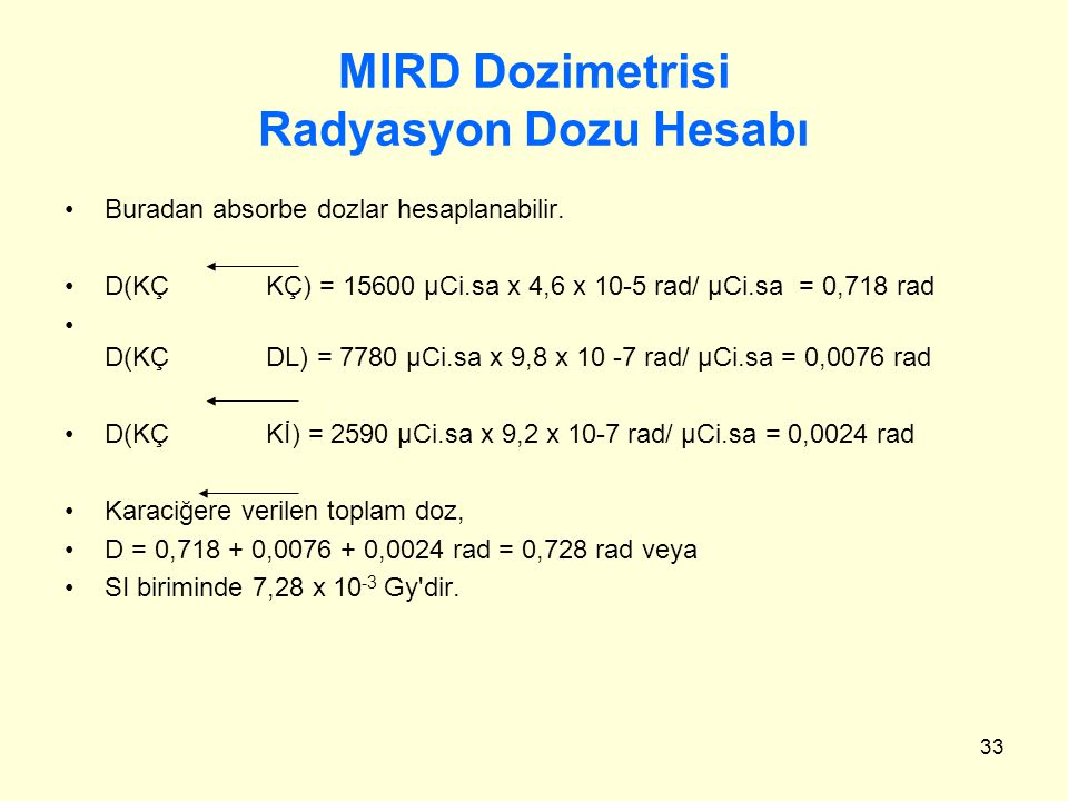 MIRD Dozimetrisi Radyasyon Dozu Hesabı