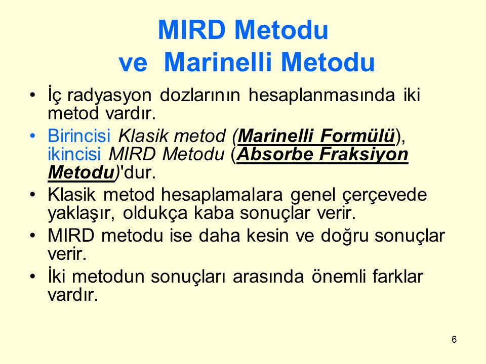 MIRD Metodu ve Marinelli Metodu