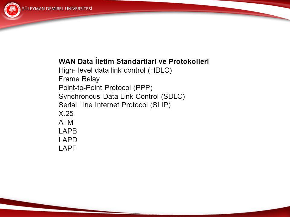 WAN Data İletim Standartlari ve Protokolleri