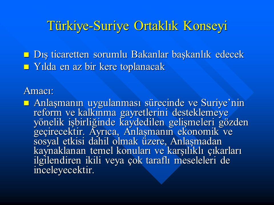 Türkiye-Suriye Ortaklık Konseyi