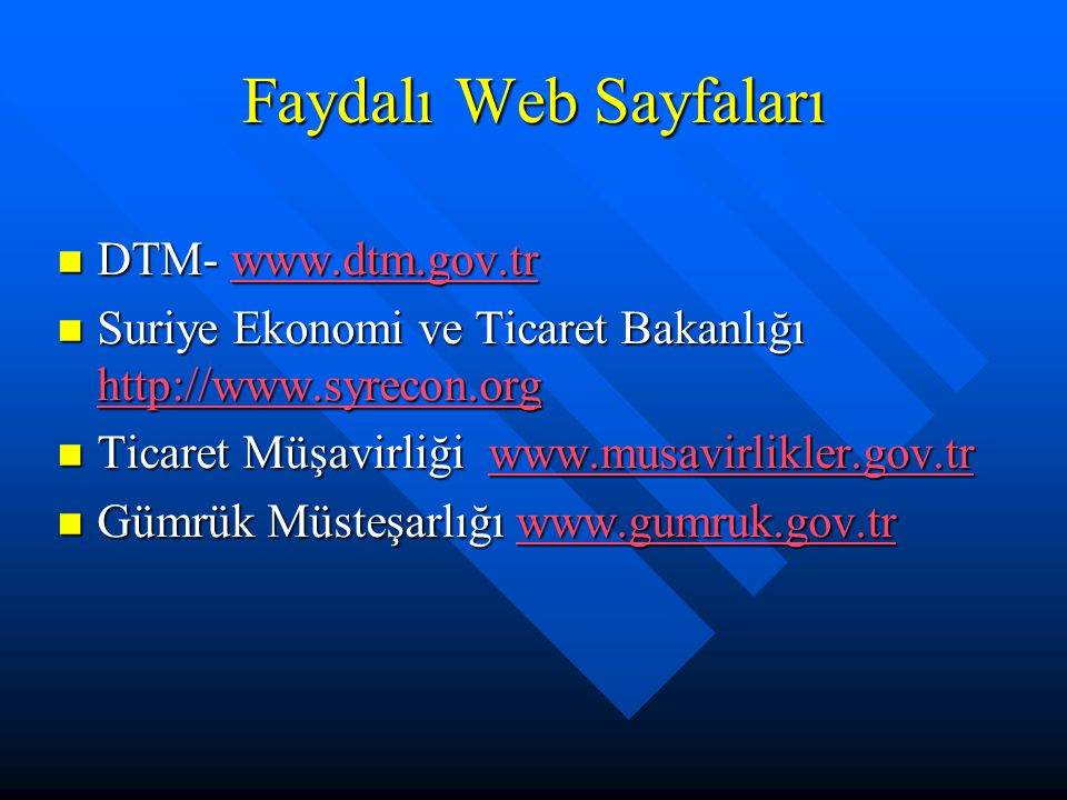 Faydalı Web Sayfaları DTM- www.dtm.gov.tr