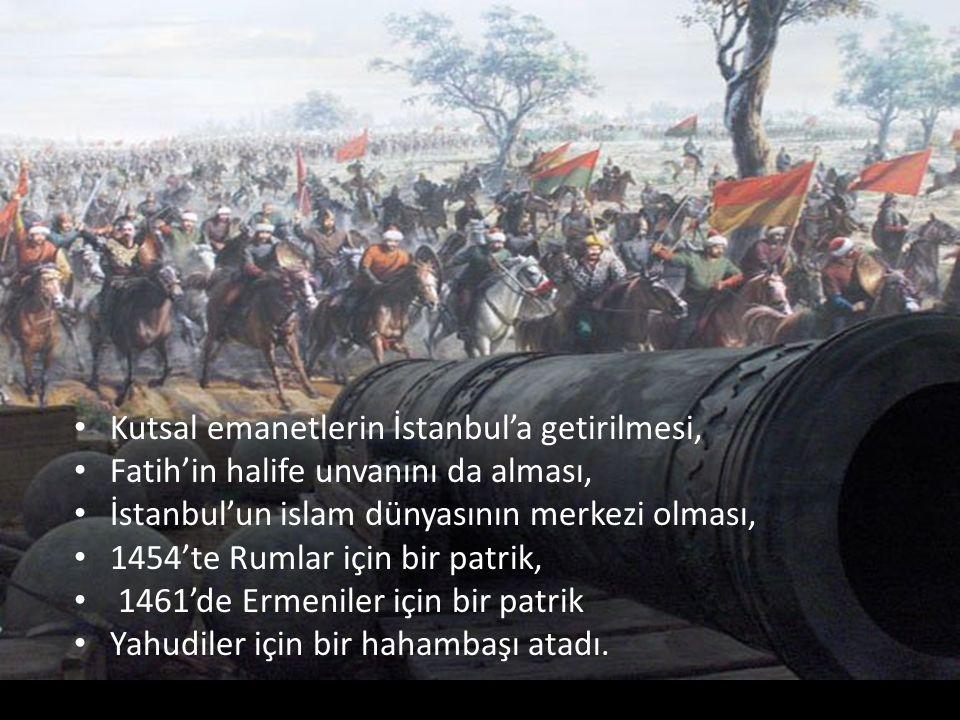 Kutsal emanetlerin İstanbul'a getirilmesi,