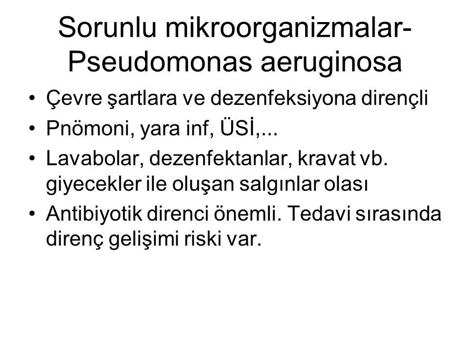 Sorunlu mikroorganizmalar-Pseudomonas aeruginosa