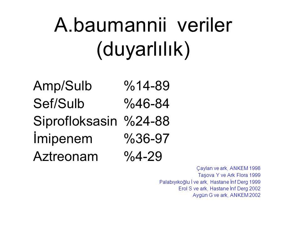 A.baumannii veriler (duyarlılık)