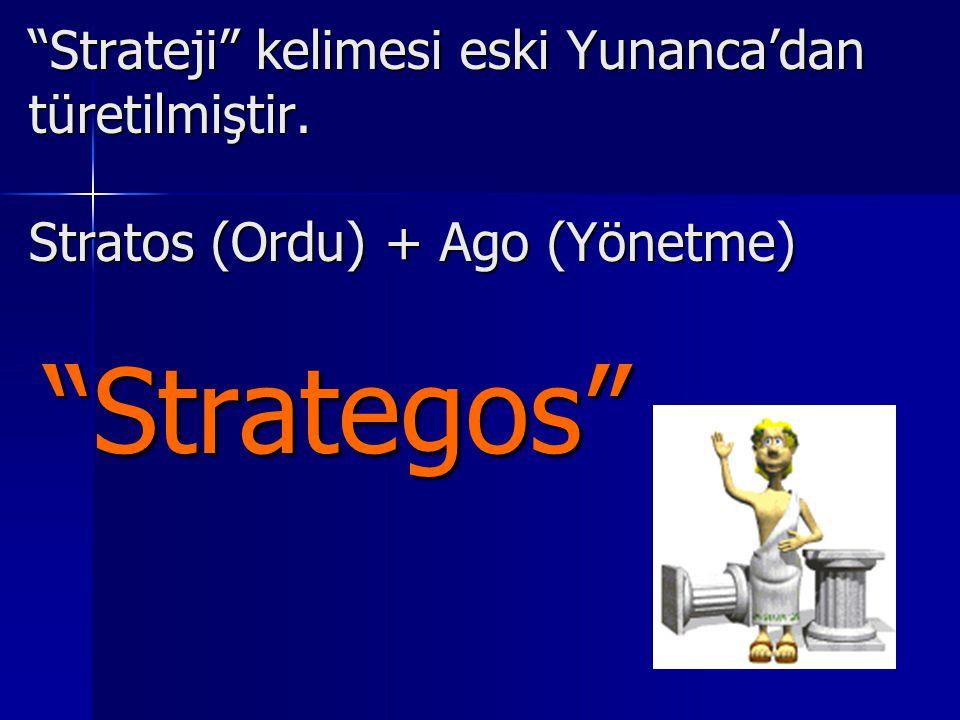 Strateji kelimesi eski Yunanca'dan türetilmiştir