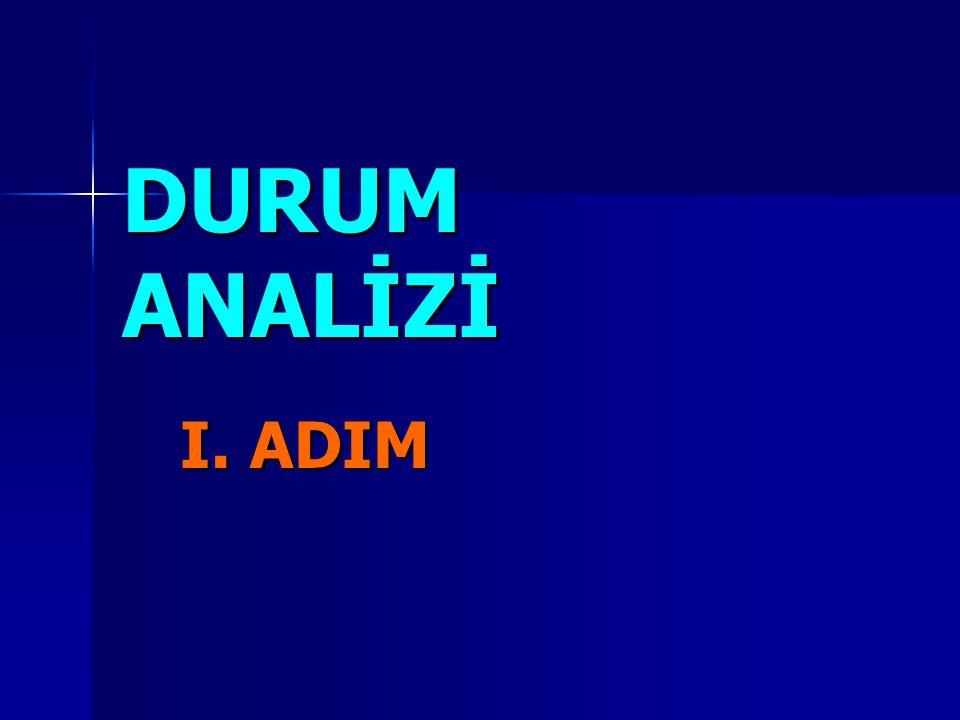 DURUM ANALİZİ I. ADIM