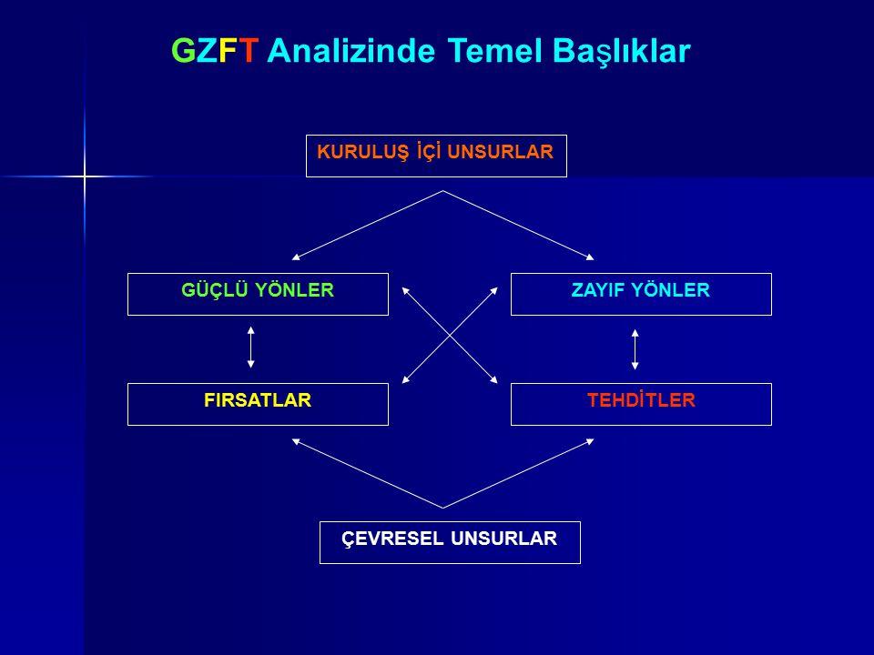 GZFT Analizinde Temel Başlıklar