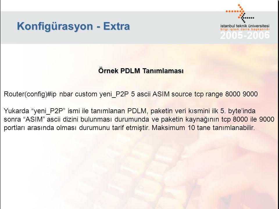 Konfigürasyon - Extra Örnek PDLM Tanımlaması