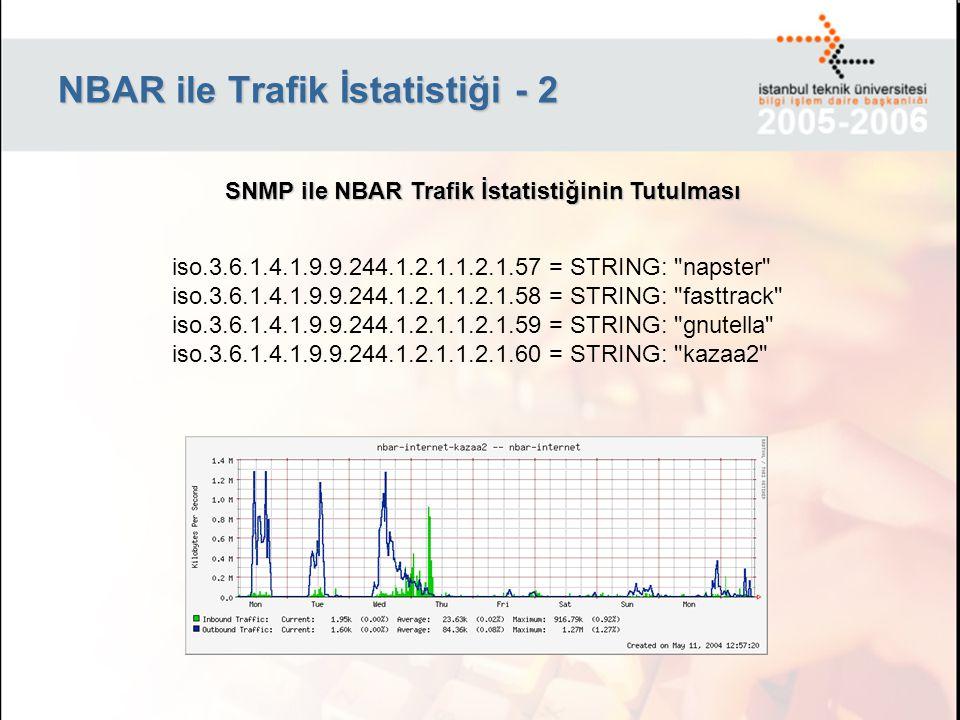 NBAR ile Trafik İstatistiği - 2