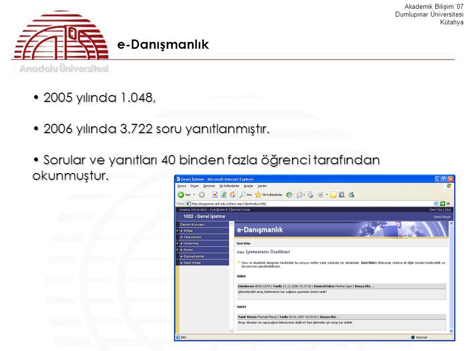 2006 yılında 3.722 soru yanıtlanmıştır.