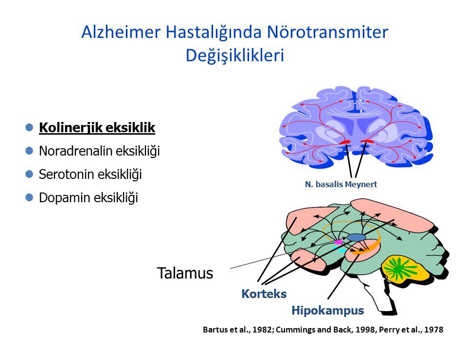 Alzheimer Hastalığında Nörotransmiter Değişiklikleri