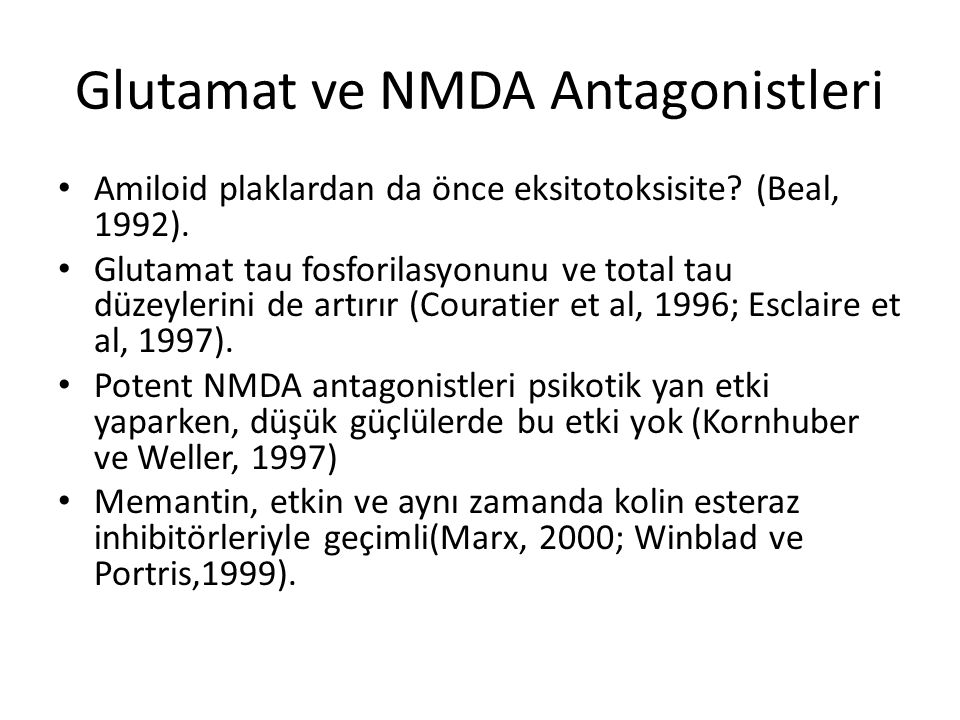 Glutamat ve NMDA Antagonistleri