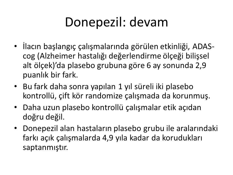 Donepezil: devam
