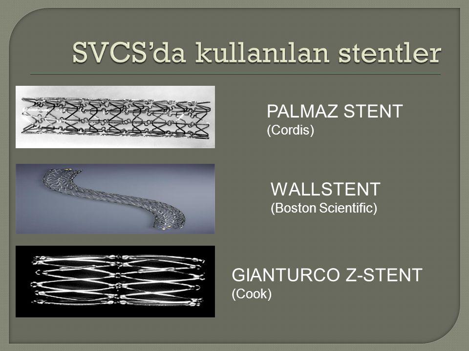 SVCS'da kullanılan stentler