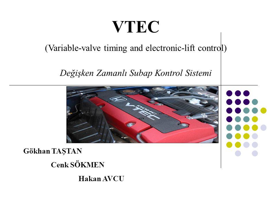 VTEC (Variable-valve timing and electronic-lift control) Değişken Zamanlı Subap Kontrol Sistemi. Gökhan TAŞTAN.