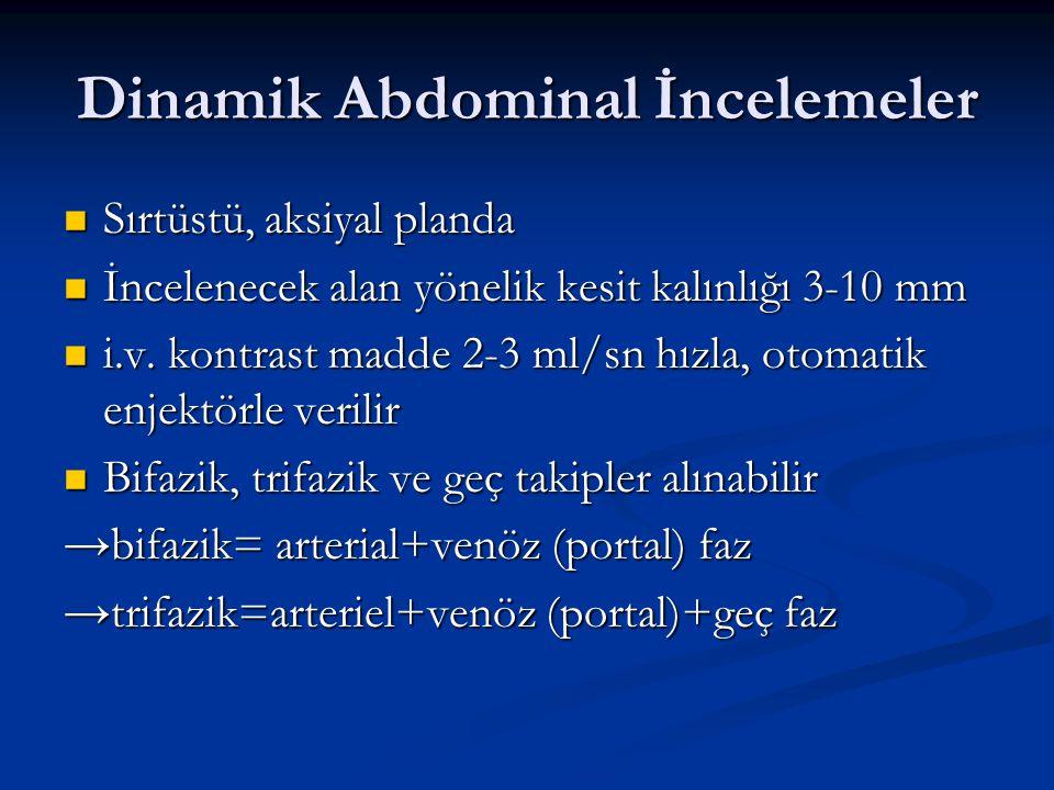 Dinamik Abdominal İncelemeler