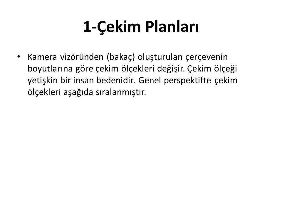 1-Çekim Planları