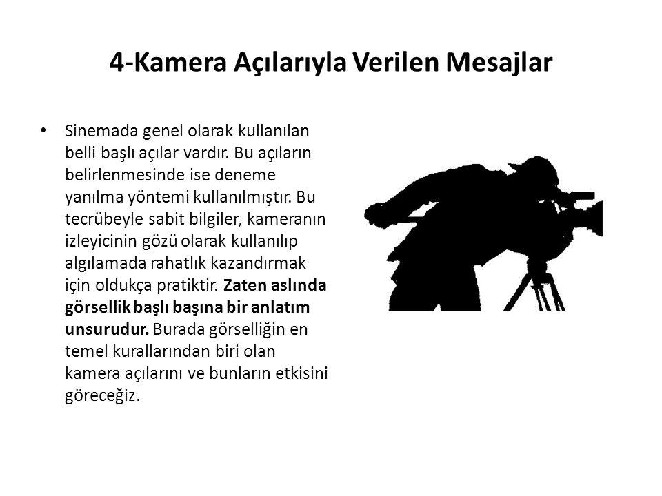 4-Kamera Açılarıyla Verilen Mesajlar