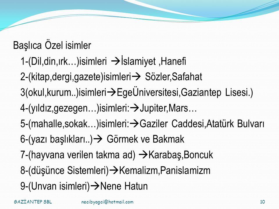 1-(Dil,din,ırk…)isimleri İslamiyet ,Hanefi