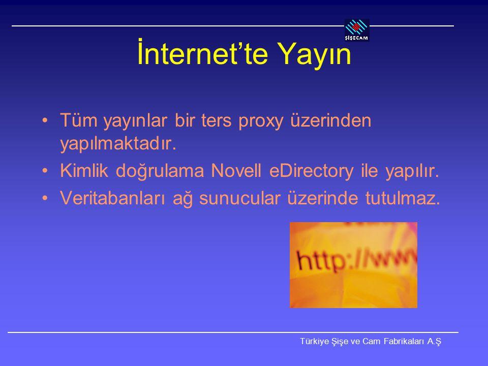 İnternet'te Yayın Tüm yayınlar bir ters proxy üzerinden yapılmaktadır.
