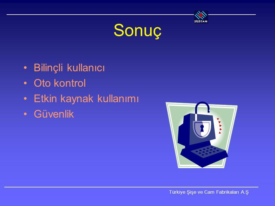 Sonuç Bilinçli kullanıcı Oto kontrol Etkin kaynak kullanımı Güvenlik