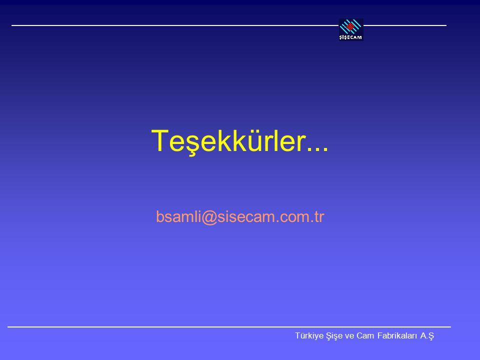 Teşekkürler... bsamli@sisecam.com.tr