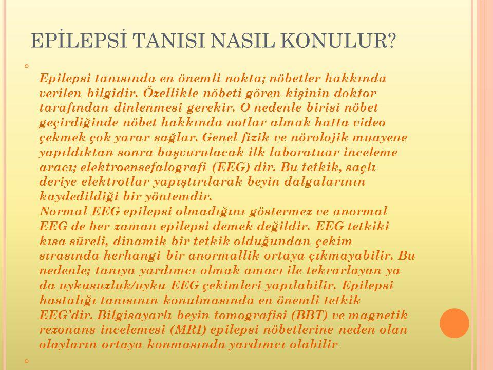 EPİLEPSİ TANISI NASIL KONULUR