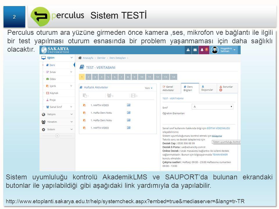 Sistem TESTİ 2.