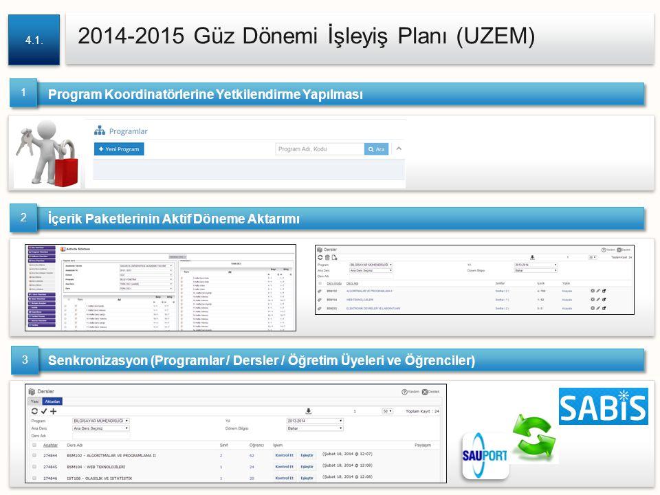 2014-2015 Güz Dönemi İşleyiş Planı (UZEM)