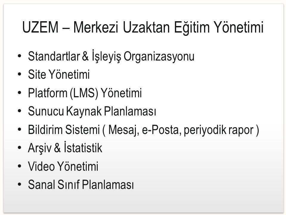 UZEM – Merkezi Uzaktan Eğitim Yönetimi