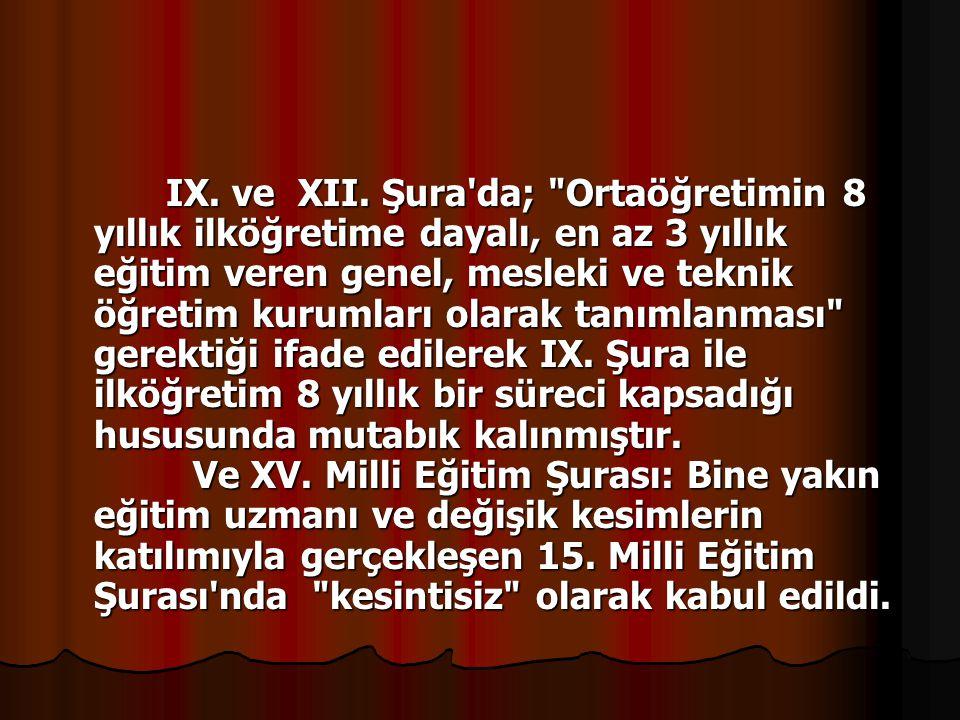 IX. ve XII.
