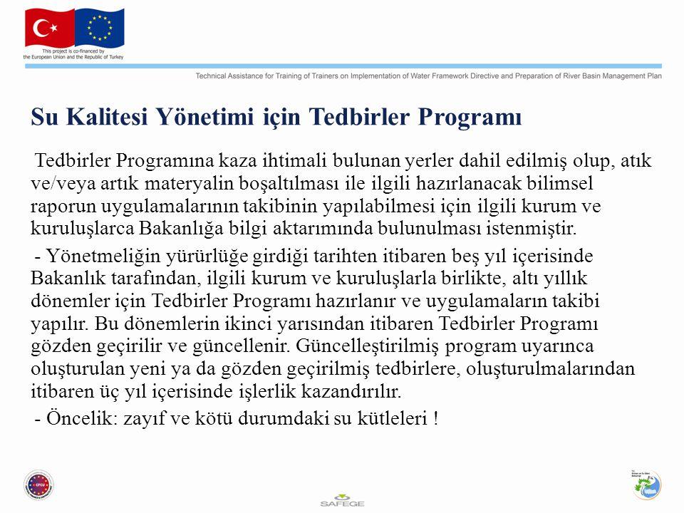 Su Kalitesi Yönetimi için Tedbirler Programı