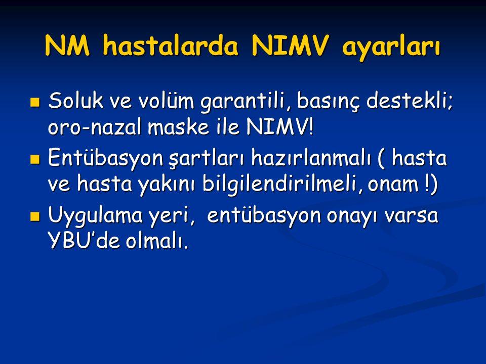 NM hastalarda NIMV ayarları