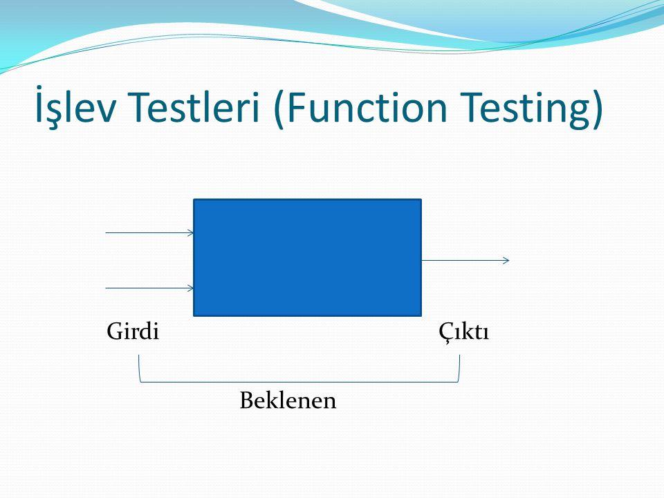 İşlev Testleri (Function Testing)