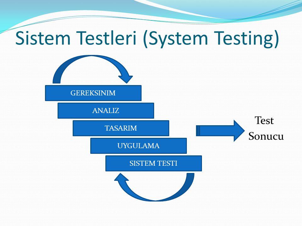 Sistem Testleri (System Testing)