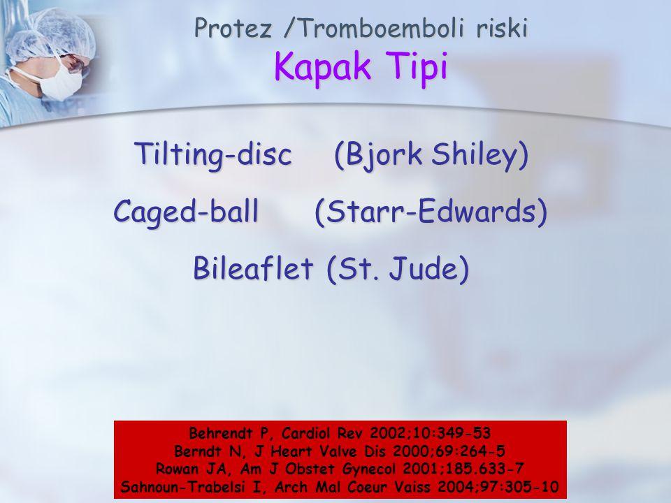 Protez /Tromboemboli riski Kapak Tipi