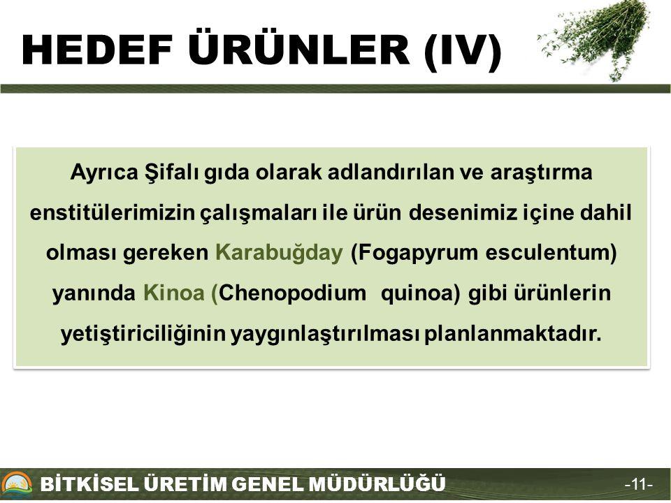 HEDEF ÜRÜNLER (IV)