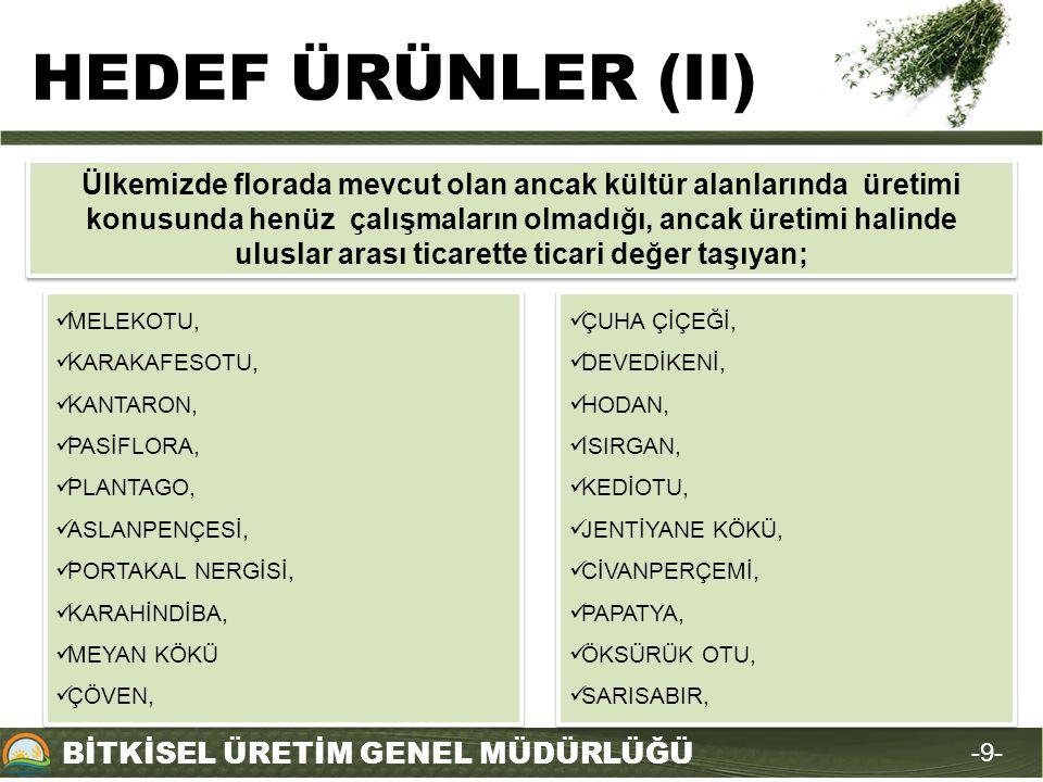 HEDEF ÜRÜNLER (II)